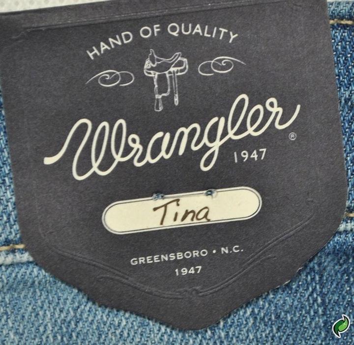 WRANGLER spodnie BOOTCUT high waist TINA _ W28 L34 7998858901 Odzież Damska Jeansy MF DPUNMF-5