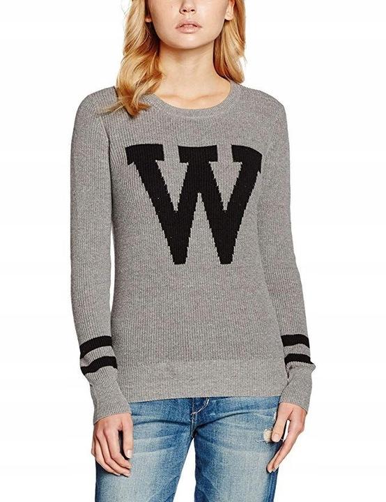 Sweter Klasyczny Damski Długi Rękaw Szary XL 42 7838349416 Odzież Damska Swetry SQ XOPZSQ-8