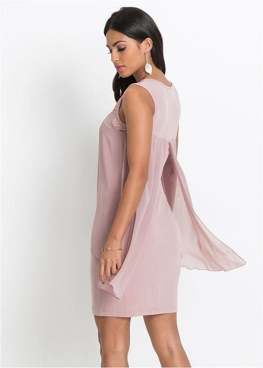 Piękna sukienka, optycznie wyszczupla r.38 8281709307 Odzież Damska Sukienki wieczorowe PG DCBOPG-2