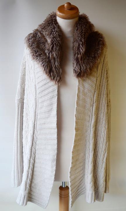 Sweter Beżowy Beż Warkocze Zara Knitwear M Futerko 7859040693 Odzież Damska Swetry TX CWAHTX-8