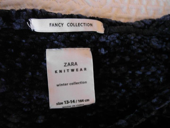 """""""ZARA"""" GRANATOWY SWETEREK S 9824179438 Odzież Damska Swetry EY NCLXEY-3"""