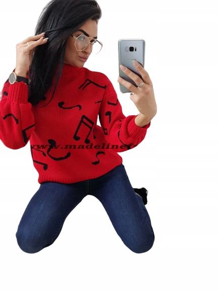 Sweter GOLF NUTKI - kolory idealny na PREZENT 8772971749 Odzież Damska Swetry HC CKZAHC-2