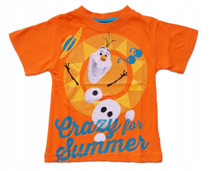 Bluzka bawełna Frozen Olaf 128 8579818284 Dziecięce Odzież QH NBRPQH-7