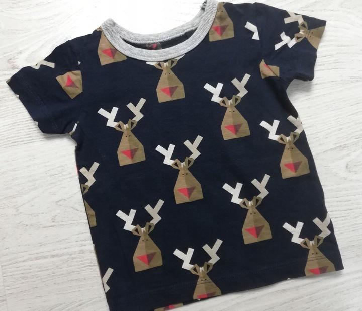 NEXT bluzeczka z reniferami 80 cm 9930361236 Dziecięce Odzież OG NLAFOG-6