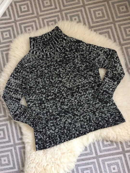 ZARA sweter golf czarny biały melanż ciepły S M 7868854121 Odzież Damska Swetry BT CNKQBT-7