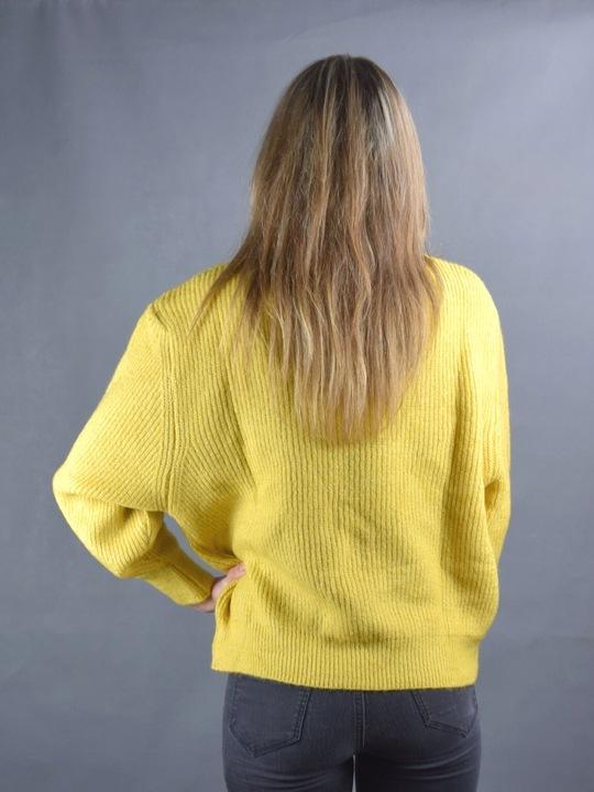 Sweter damski oversize nietoperz żÓłty musztardowy 8732577459 Odzież Damska Swetry BJ MFORBJ-3