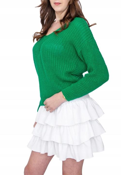 LUŹNY SWETER PIĘKNY KOBIECY KRÓJ NEON KOLORY 7923061013 Odzież Damska Swetry SU IPWJSU-8