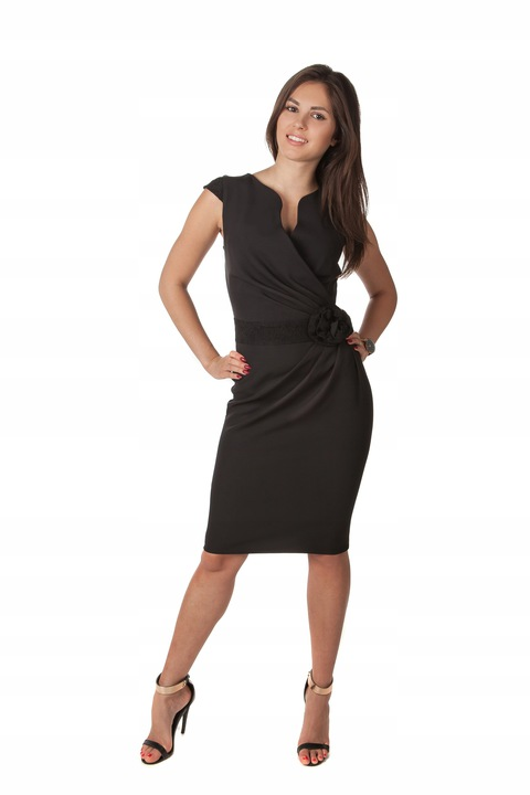 Sukienka Koronka Na Wesele Komunie R/48 7953770969 Odzież Damska Sukienki wieczorowe JJ JPLSJJ-6