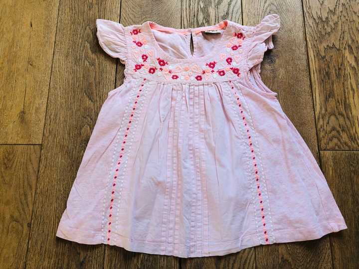 RÓżowa bawełniana bluzeczka NEXT 7 lat 122 cm 1594 8117062064 Dziecięce Odzież OI NVVVOI-2