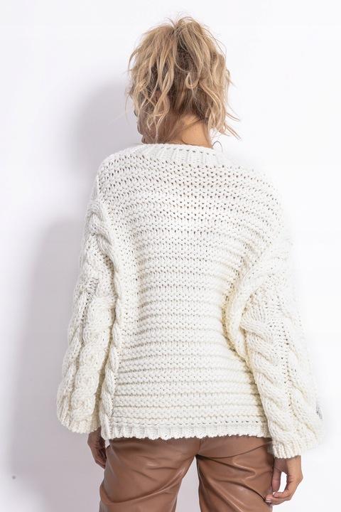 Sweter LUŹNY CIEPŁY GRUBY SPLOT Wełna PIĘKNY L/XL 8662799461 Odzież Damska Swetry NV ZXBONV-4