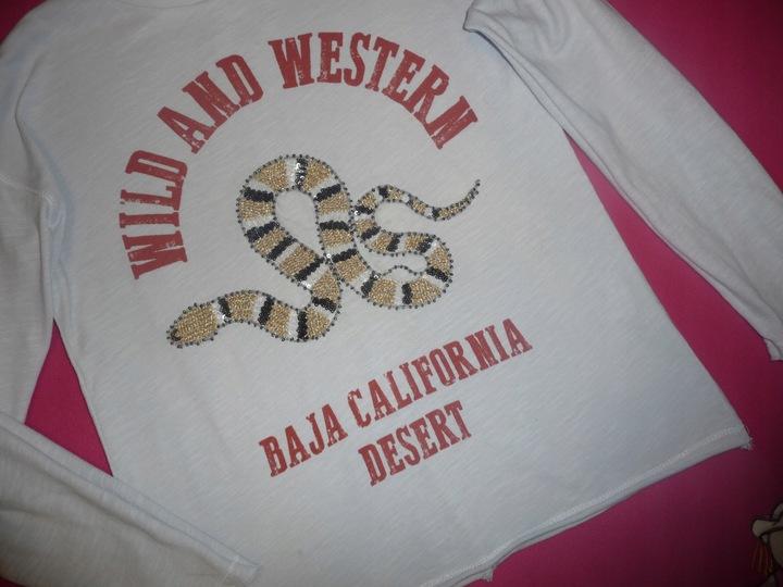 Zara Girls bluzka z nadrukiem cekinami 140 9928563312 Dziecięce Odzież YW NFEFYW-3