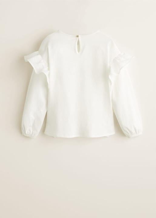 MANGO bluzka koszulka ozdobiona falbankami 122 6-7 9917416615 Dziecięce Odzież OV YJXGOV-7