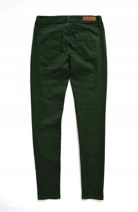 ZARA TRF długie jeansowe spodnie zielone RURKI 34 9193659503 Odzież Damska Jeansy KJ BKTTKJ-3