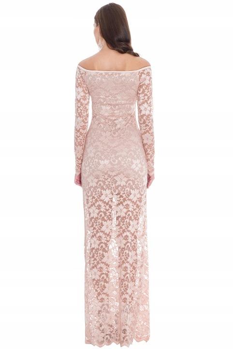 Sukienka koronkowa na wesele studniÓwkę A191 36 8455265369 Odzież Damska Sukienki wieczorowe PL LBXLPL-5
