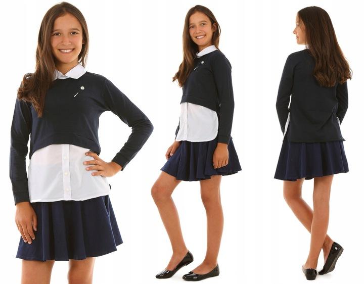 Bluzka z długim rękawem, BROSZKA - 152 SZKOŁA 8356613441 Dziecięce Odzież QI YWUAQI-6