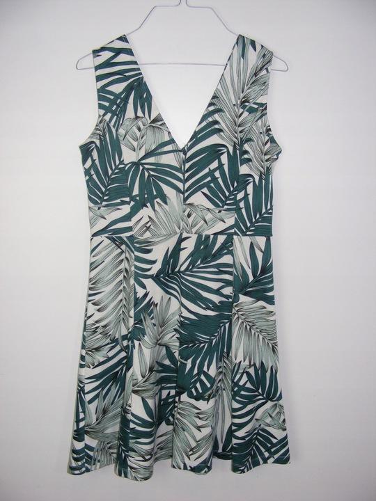 H&M elastyczna sukienka liście palmy R M 8904009276 Odzież Damska Sukienki BE OFPJBE-8