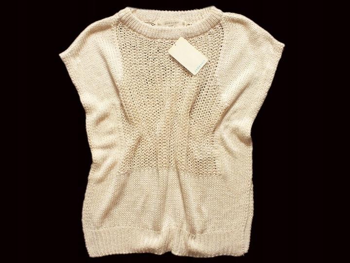 SWETER BLUZKA SWETERKOWA PLECIONA NARZUTKA ZARA M 9090594953 Odzież Damska Swetry PY CUHZPY-8