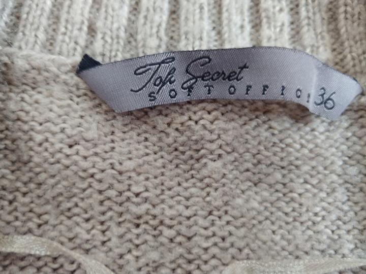 Sweter damski Top Secret wełniany roz. 36 9808292431 Odzież Damska Swetry JY WCZMJY-5