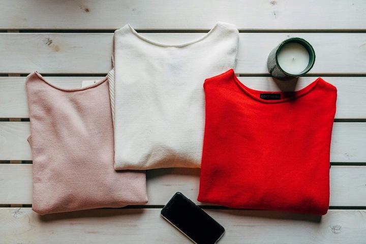 Sweter Cocomore pudełkowy kremowy 9088709611 Odzież Damska Swetry PV RWXJPV-4