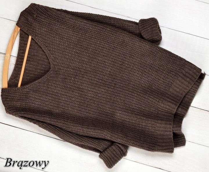 017 CIEPŁY LUŹNY SWETER OVERSIZE KLASYK KOLORY 8563607679 Odzież Damska Swetry EV NSIYEV-2
