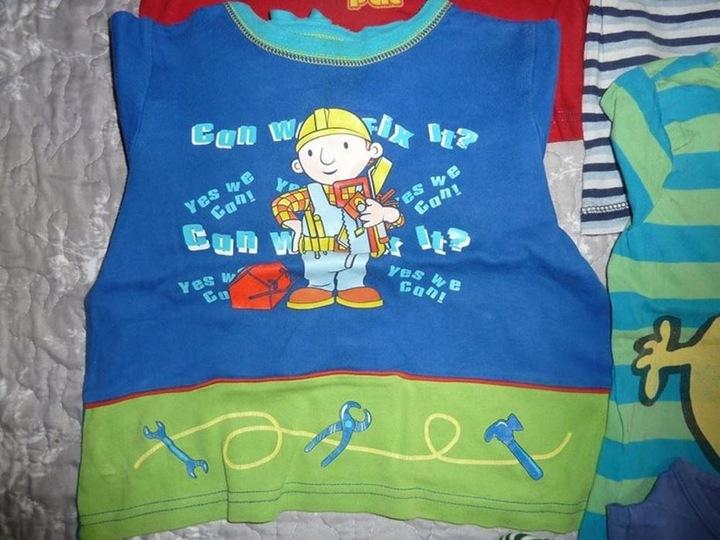 Bluzki chłopięce 10szt. 2-3L 92-98cm BOB PAT NEXT 9911457539 Dziecięce Odzież PX HJXJPX-1