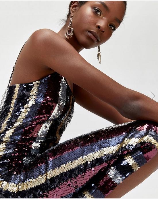 Sukienka koktajlowa cekinowa Warehaus r.40 8840904539 Odzież Damska Sukienki WO MCQYWO-6