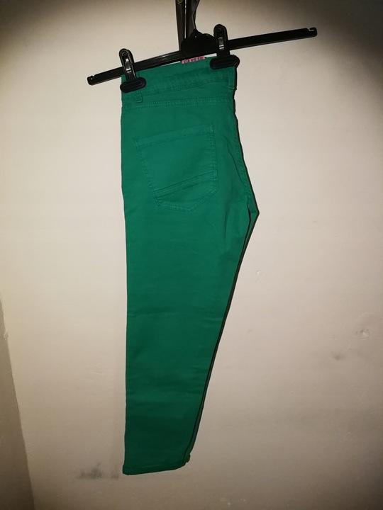 NOWE Spodnie ZARA zielone spodenki rurki M 38 20 8687286700 Odzież Damska Jeansy SP GSKYSP-5