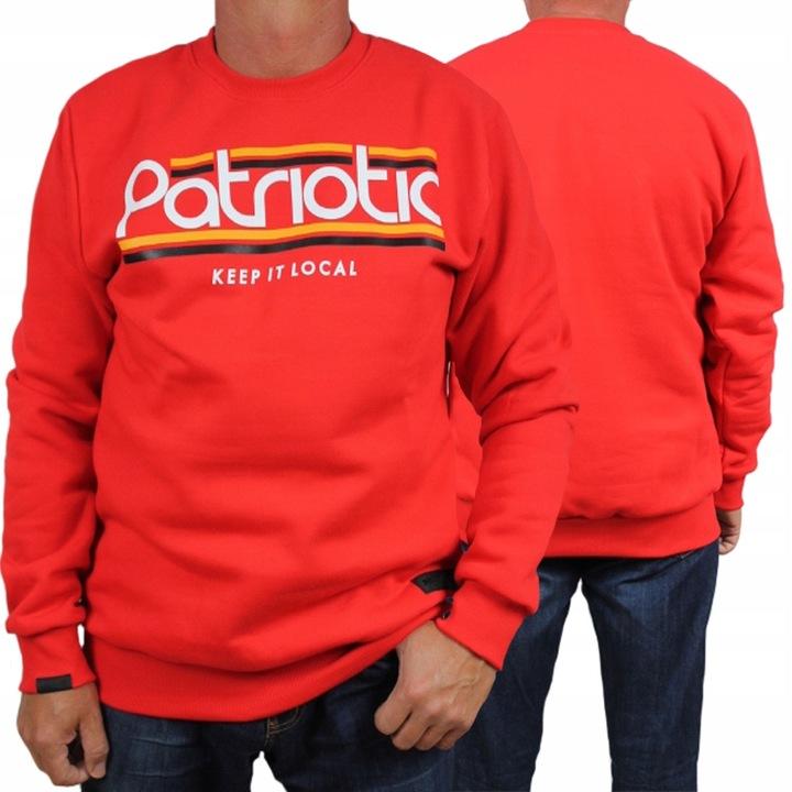 PATRIOTIC bluza PATRIOTIC klasyk + wlepa ARI roz L 9632844071 Odzież Męska Bluzy OU YWOXOU-7