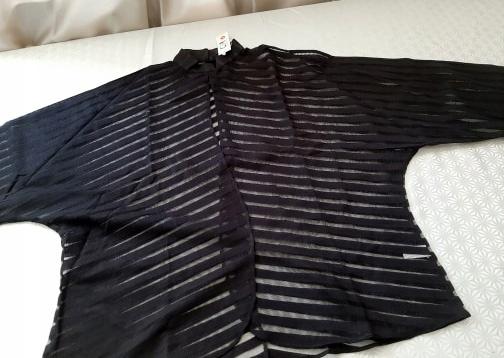 CLASSIC BLACK STRIPED MIST SHIRT S 9664446839 Odzież Damska Topy DR OZLUDR-8