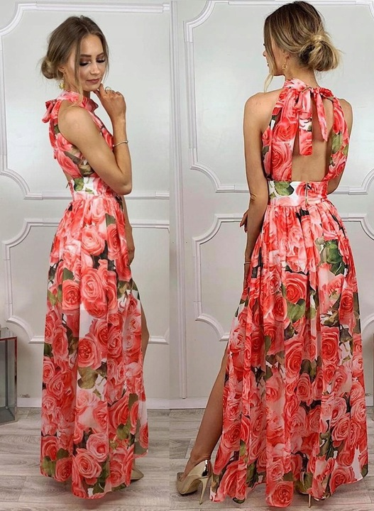 JASMINA SUKIENKA w KWIATY XS 9439264433 Odzież Damska Sukienki wieczorowe ID UIENID-7