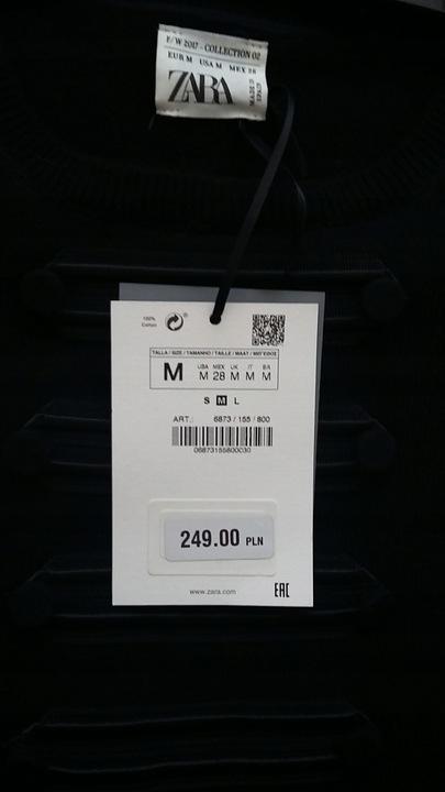 ZARA kaszmirowy sweter czarny 100% kaszmir r. M 9429906737 Odzież Damska Swetry RI GKQORI-2