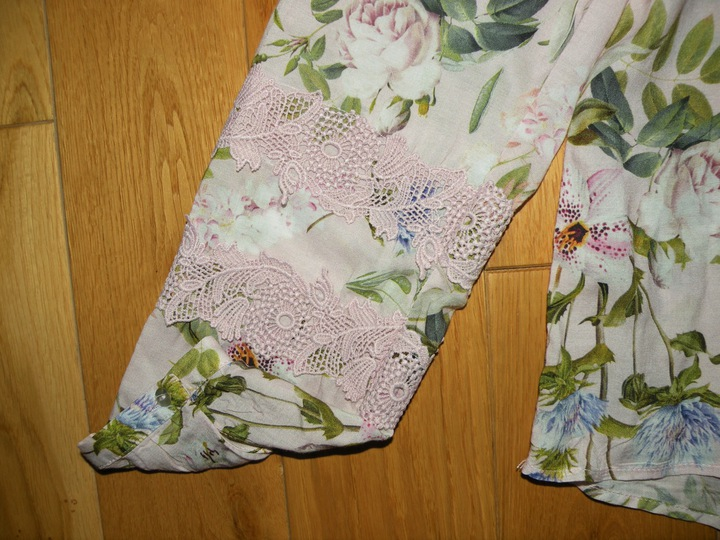 bluzka tunika ORSAY kwiaty 38 NOWA pudrowy rÓż 9546486245 Odzież Damska Bluzki WL PLEMWL-9