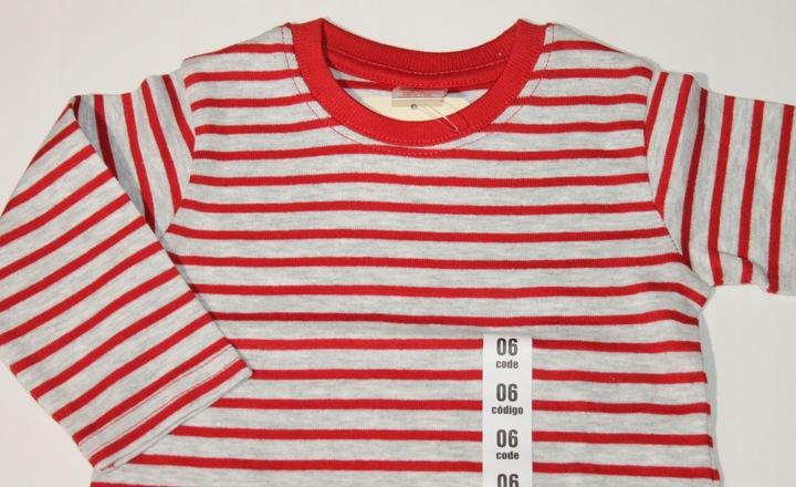 ZARA bluzeczka koszulka PASKI 68 cm 3-6 m-cy 8931743653 Dziecięce Odzież QW UJHWQW-5