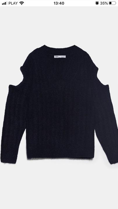 Nowy Oryginalny swetr granatowy Zara 36 metki 9834923458 Odzież Damska Swetry YS FXTAYS-6