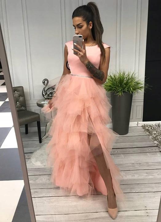 Sandy CZERWONA TIULOWA ślub wesele STUDNIÓWKA S 8925464835 Odzież Damska Sukienki wieczorowe LN ZJCBLN-2