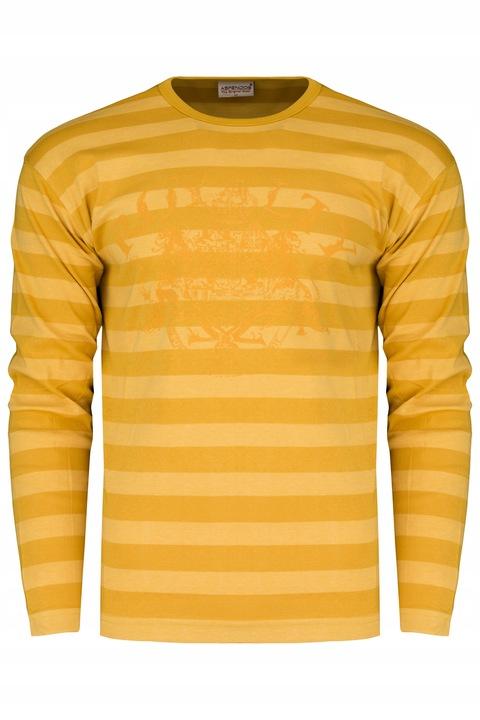 RETRO JEANS ROYALTY koszulka BAWEŁNA 100%___M 8894080188 Odzież Męska Koszulki z długim rękawem OB HQXUOB-9