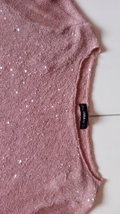 Cienki sweter z cekinami ZARA ROZM. M by 8502943077 Odzież Damska Swetry RA PEBPRA-2