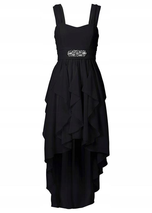 Niezwykle piękna sukienka dłuższy tył 48 8493190181 Odzież Damska Sukienki wieczorowe WX IABSWX-1
