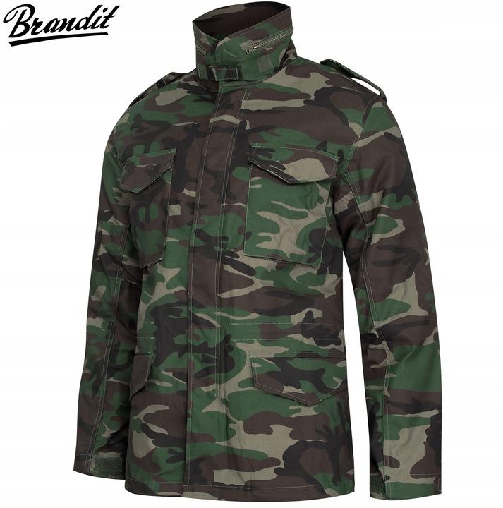 BRANDIT Kurtka Wojskowa M65 PARKA 2w1 Woodland L 8541539412 Odzież Męska Okrycia wierzchnie IH ROJYIH-8