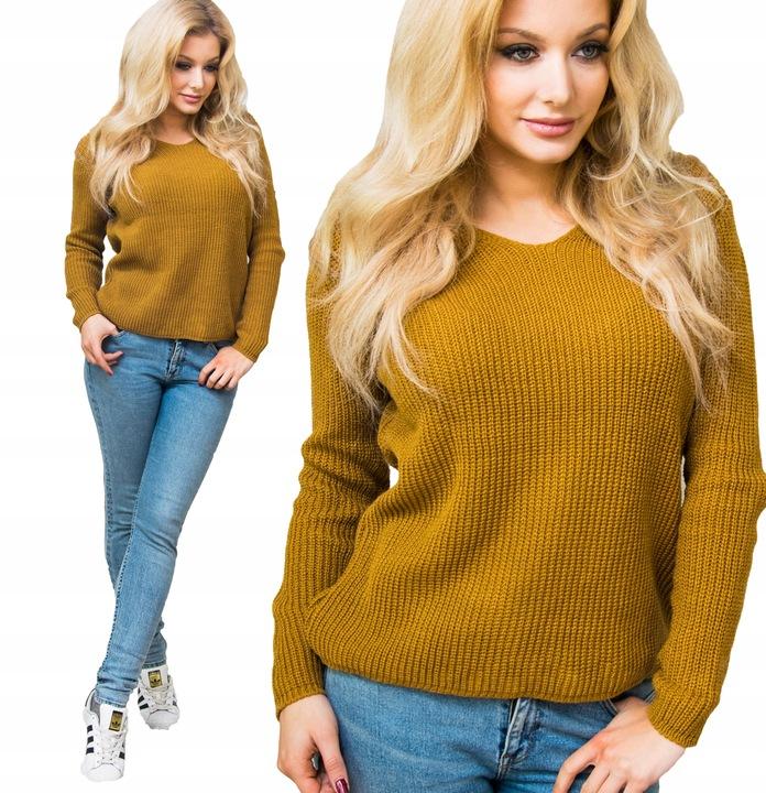 DUŻY milutki LUŹNY kobiecy SWETER KOLORY oversize 7530114593 Odzież Damska Swetry VY HUQXVY-5