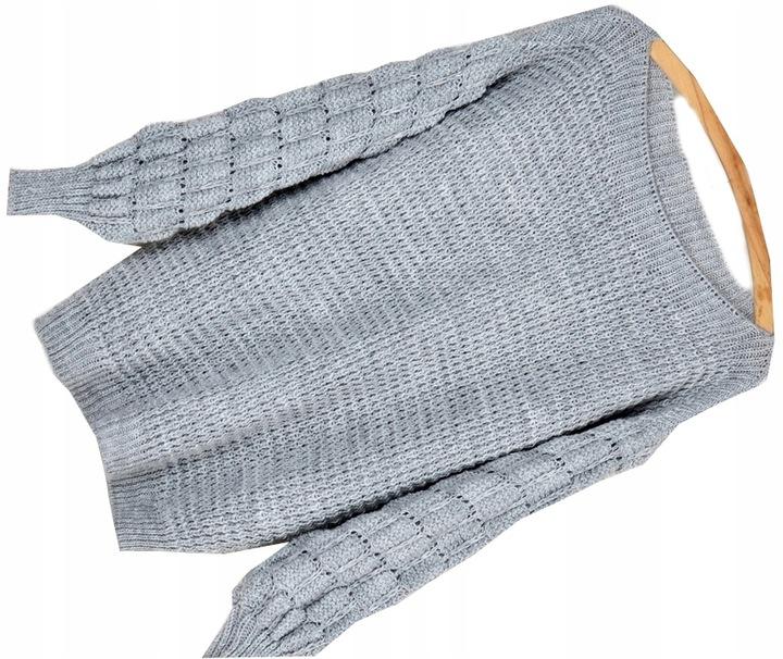 K38 CIEPŁY Z WEŁNĄ MIĘCIUTKI SWETER BUBBLES 8761780180 Odzież Damska Swetry CB SITICB-5