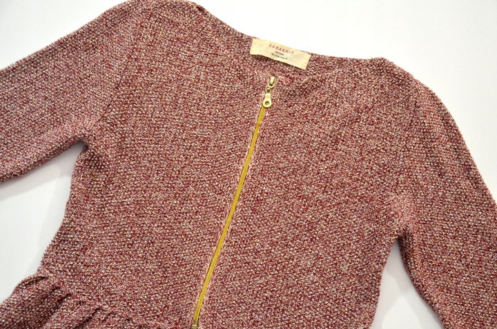 ZARA sweter BASKINKA zamek BORDO r. L 8726915095 Odzież Damska Swetry QM LUALQM-1