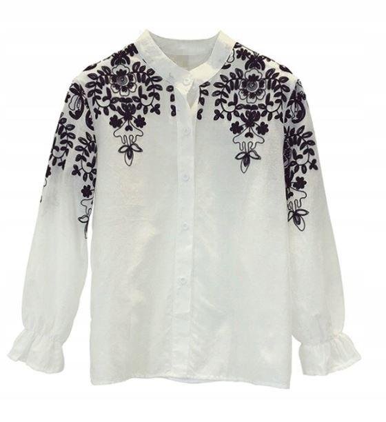 Women's blouse shirt with embroidery for ethno sch 9664446349 Odzież Damska Topy QC JWRQQC-7
