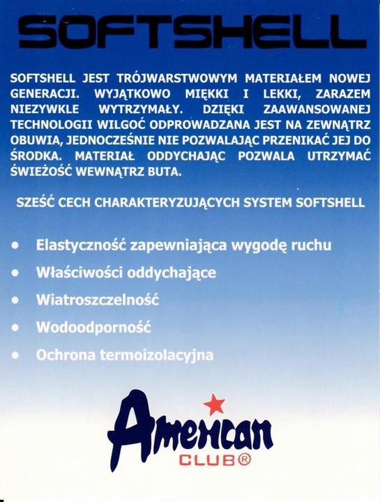 AMERICAN BUTY SPORTOWE SOFTSHELL WZ. WT 05/20 R.37 9818203461 Buty Męskie Sportowe JE USYYJE-5