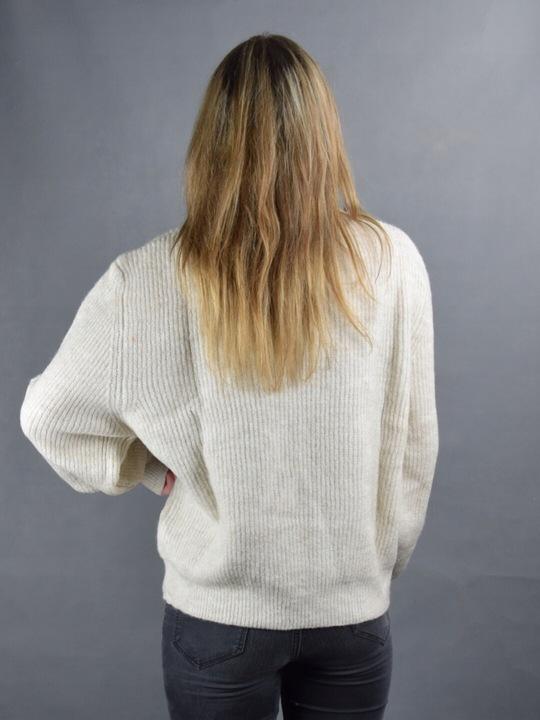Sweter damski oversize nietoperz jasny melanż krem 8732580681 Odzież Damska Swetry RQ XPWTRQ-8