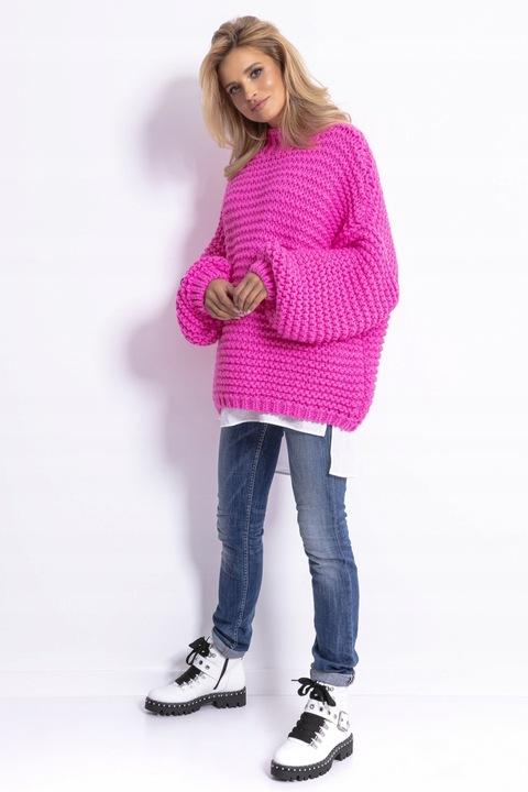 FOBYA Luźny sweter oversize Chunky Knit F790 S/M 8739626550 Odzież Damska Swetry LN NQLALN-8