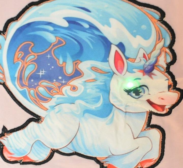 Bluzka świecąca jednorożec unicorn rÓżowa 6-7 l 9858600837 Dziecięce Odzież TW FOTPTW-2