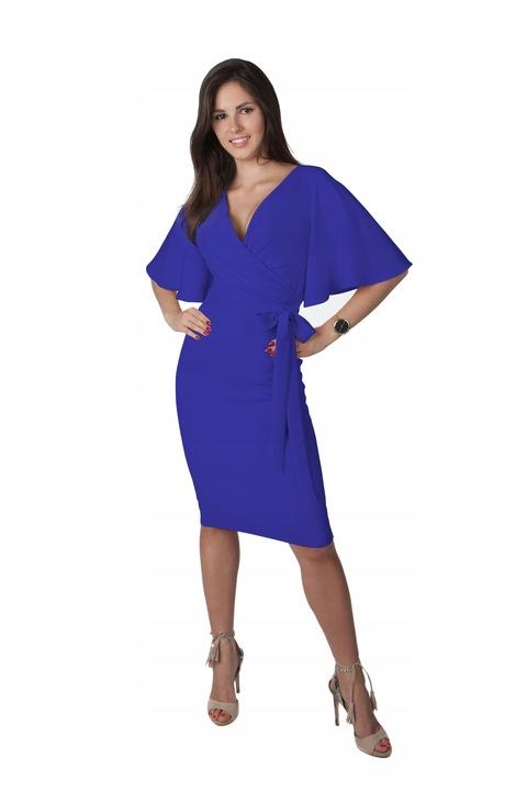 Sukienka Z Kokardą Unikat Na Wesele R/40 8188300934 Odzież Damska Sukienki wieczorowe PX PUZIPX-1