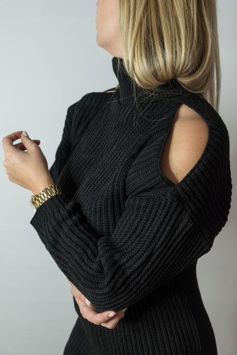 Sweterek/ tunika - golf z odkrytymi ramionami 7724766695 Odzież Damska Swetry GL CWZNGL-3