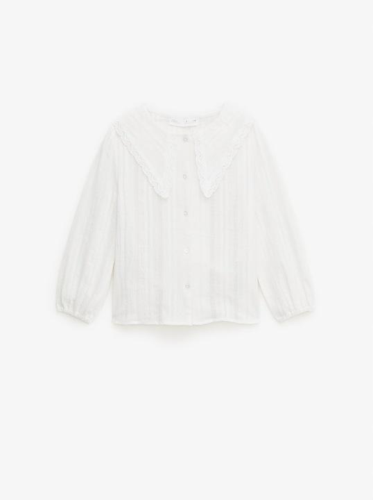 ZARA bluzka 152 koszula z wstawkami koronki 11-12 9926977473 Dziecięce Odzież LW JUVNLW-6